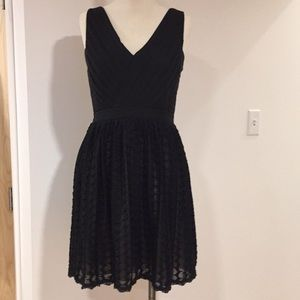 Black knit and lace dress